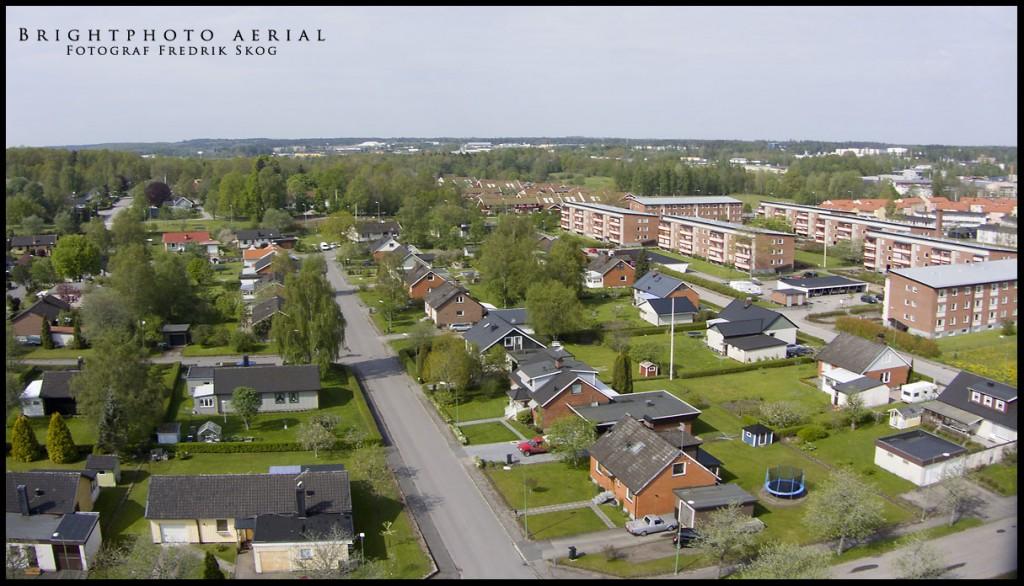 Flygfoto Ljungby. Timotejvägen. © Brightphoto.se