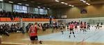 Panorama över Sunnerbohallen under en volleybollmatch mellan Ljungby och Gislaved