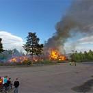DHL brinner i Ljungby (panorama)