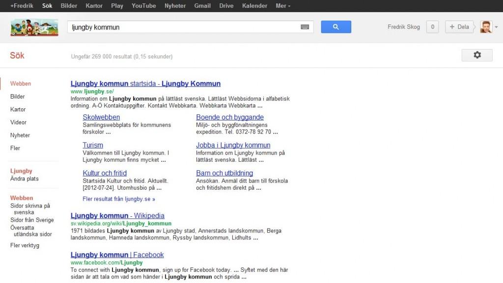Google-sökning utan Google places och Google Business Photos