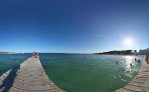 306 graders panorama från Pto de Alcudia, Mallorca