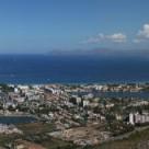 Panorama över Puerto de Alcudia Mallorca